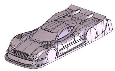 Mercedes 1/8th scale CLK GT