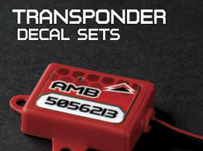 Ugrade RC custom Transponder decals