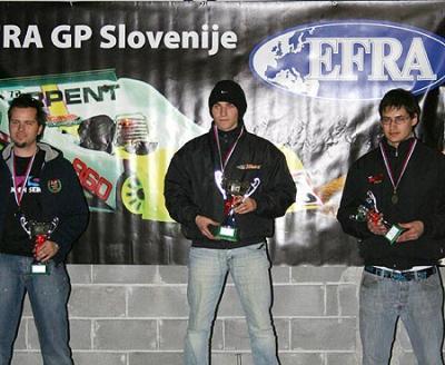 Euro B warm up race