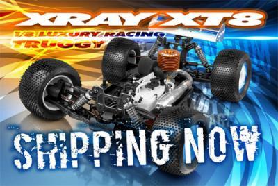 Xray XT8 now Shipping