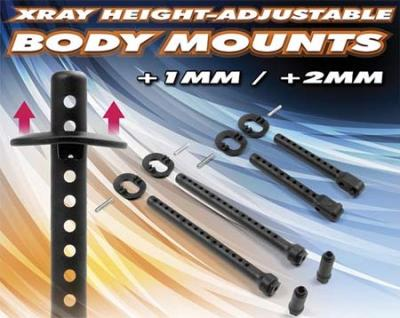 Xray Height-Adjustable body mounts