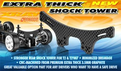 Xray T2 Extra Thick Shock Tower