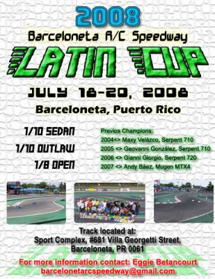 2008 Latin Cup -  Announcement