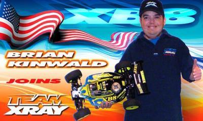 Brian Kinwald Joins Team XRAY