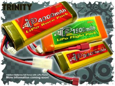 Trinity announce Intellect LiPo packs
