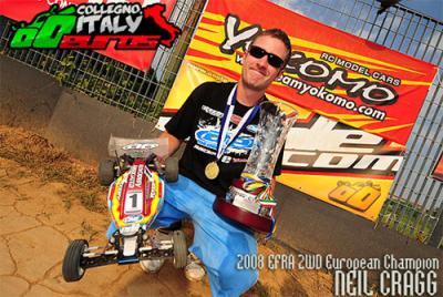 Neil Cragg retains 2wd Euro title