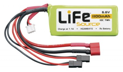 Hobbico LifeSource LiFe 6.6V 10C RX packs