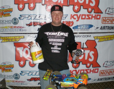 Adam Drake wins Truggy at Toys for Tots