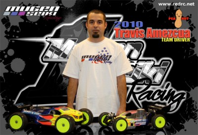 Mugen Seiki Racing sign Travis Amezcua