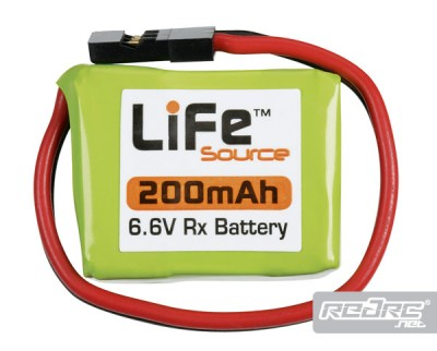 LiFeSource 200mAh 6.6V LiFe receiver battery