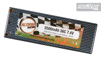Acorn Racing 5500mAh 36C Carbon LiPo pack