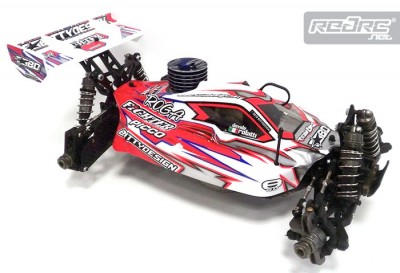 Bitty Design prototype Losi 8ight shell