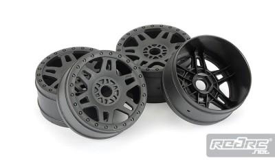 Pro-Line Split Six wheels & V2 blue molded inserts