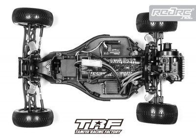 Tamiya TRF 2wd buggy chassis shot