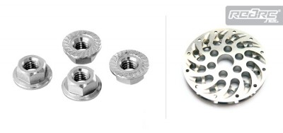 Xceed Titanium wheel nuts & machined brake disk