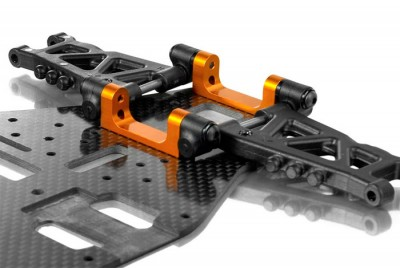 Xray T3 1-piece alu rear suspension holder