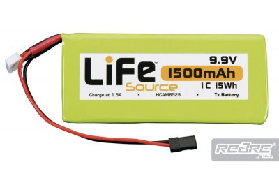 LiFeSource 3S LiFe TX & 1300mAh RX packs