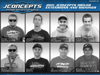 JConcepts announce 2011 factory team