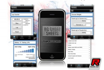 Associated RC Cheat Sheets iPhone app
