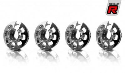 Xray aluminium shock spring retaining collars