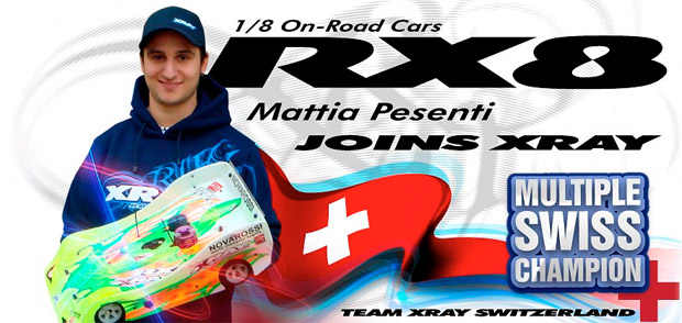 Mattia Pesenti joins Team Xray