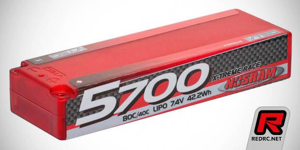 Nosram 5700mAh 80C X-Treme LiPo pack