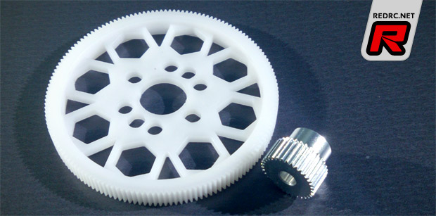 LeeSpeed 84 pitch spur gears & pinions - Red RC
