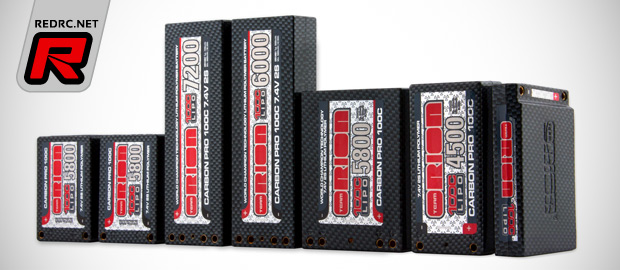 Team Orion Carbon Pro 100C LiPo battery packs