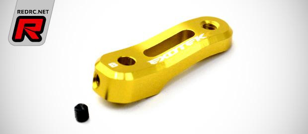 Exotek TLR 22-4 alloy servo mount & steering horns