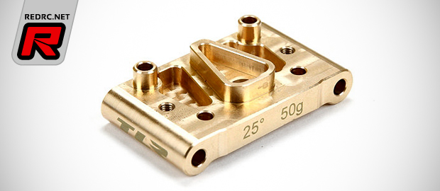TLR 22 2.0 25 degree brass front pivot block
