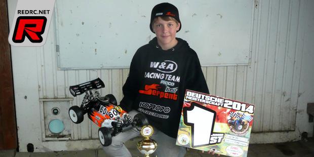 Widmeier wins German 1/8th nitro buggy junior title