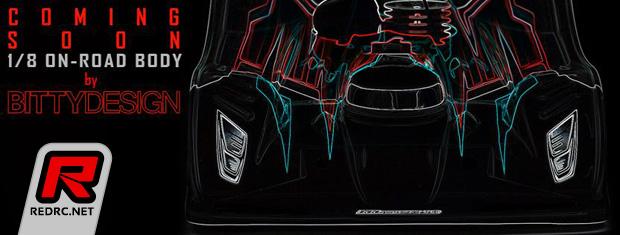 Bittydesign 1/8th on-road bodyshell – Coming soon