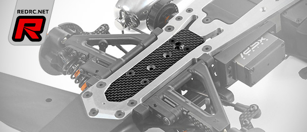 Xray RX8 front graphite chassis insert