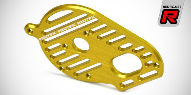 Exotek TLR 22 alloy motor plate & front camber block