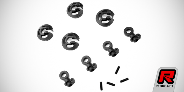 Tekno locking spring perches & rubber shock boots