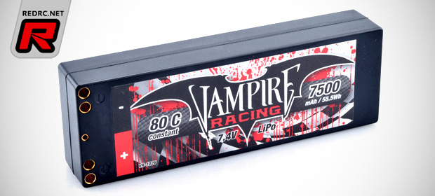 Vampire Racing 7500mAh 80C LiPo stick pack