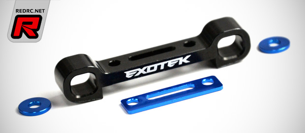 Exotek B5 alloy 3-gear motor plate & suspension parts