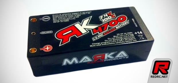 Marka Racing 4700mAh 100C shorty LiPo battery