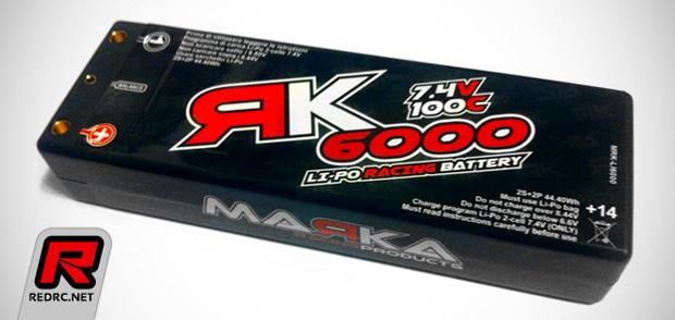 Marka Racing 6000mAh 100C 2S LiPo battery pack