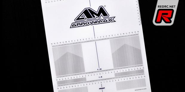 Arrowmax 1/10th & 1/8th setup board decals