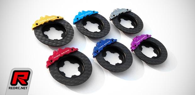 Hiro Seiko steering wheel carbon fibre brake discs