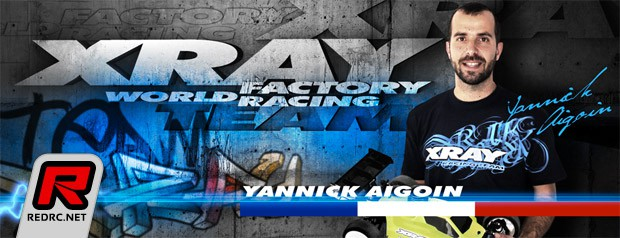 Yannick Aigoin signs for Team Xray