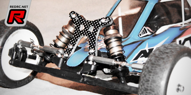 JTP RB6 front shock tower & merchandise