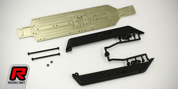 Kyosho ZX-6 aluminium HD main chassis conversion