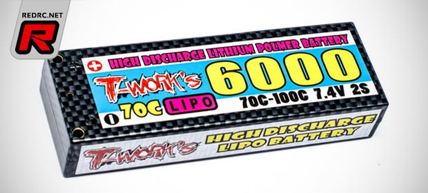 T-Works 6000mAh & 5000mAh LiPo battery packs