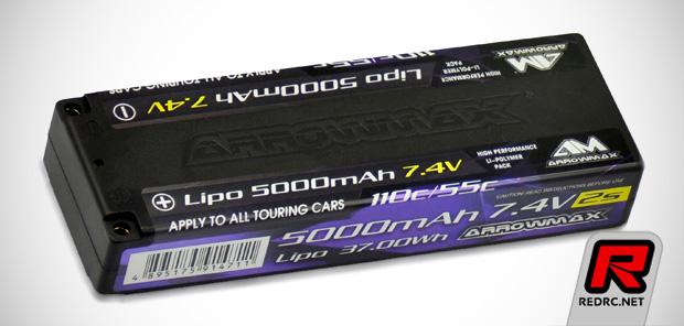Arrowmax 5000mAh 110C/55C 2S LiPo battery pack