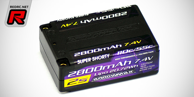 Arrowmax 2800mAh 2S super shorty LiPo battery