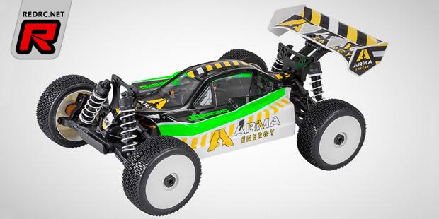JQRacing ARMA Energy branded 1/8th RTR buggies
