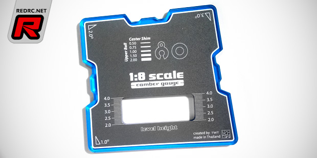 TWT acrylic 1/8th off-road camber gauge