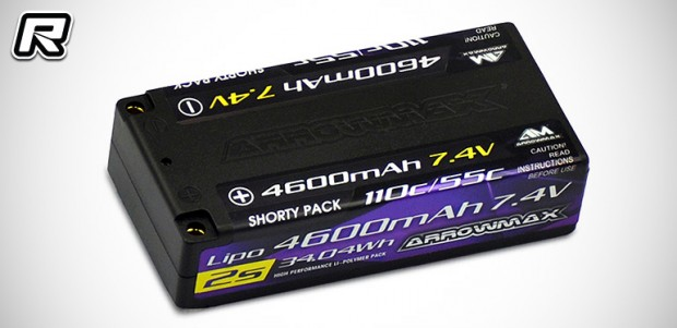 Arrowmax 4600mAh LiPo shorty battery pack